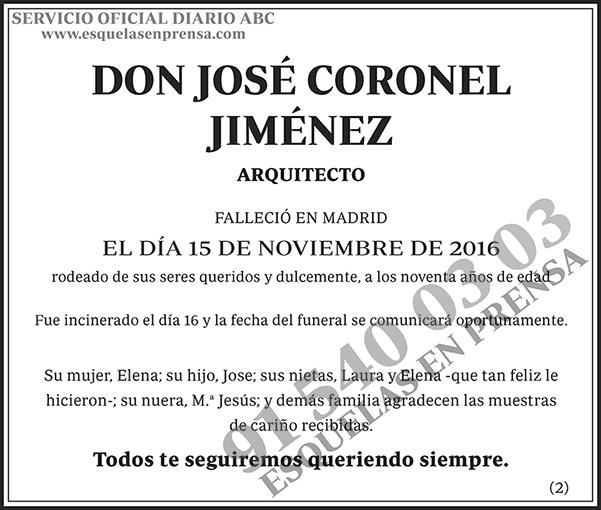 José Coronel Jiménez
